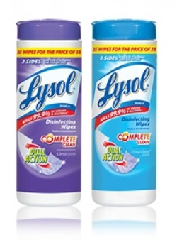 Save – $1.00 off any TWO Lysol Disinfecting wipes