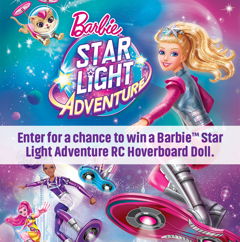 Barbie Star Light Adventure – RC Hoverboard Sweepstakes