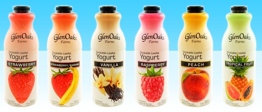 Save $0.75 off any one of GlenOaks drinkable yogurt