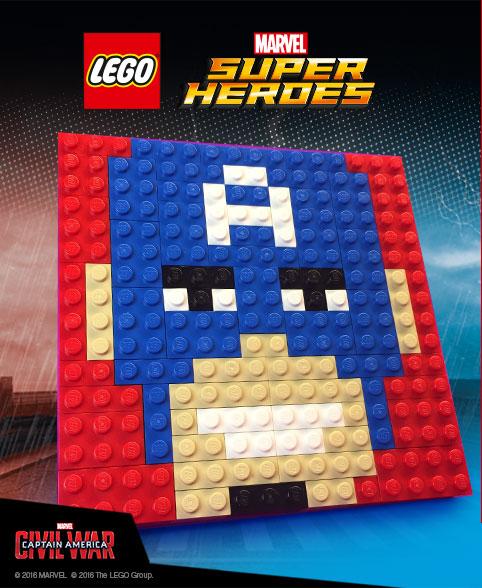 Free LEGO Marvel Captain America Mosaic at Toys R Us!