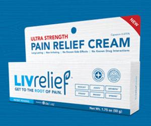 Free Sample of LivRelief Pain Relief Cream!