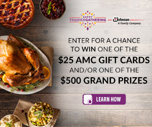 Enter for a chance to win one of many $25 AMC gift cards and/or one of the $500 grand prizes