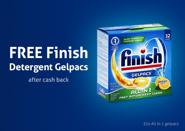 Free Finish Powerball Tabs Dishwasher Detergent Tablets 32 Count!