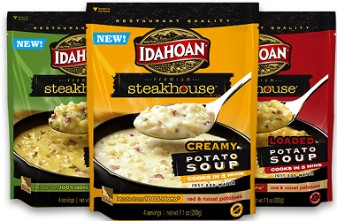 New Coupon – Save $1.00 off any 2 Idahoan Steakhouse Soup Bowls or Pouches