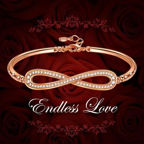 "LadyColour ""Endless Love"" Infinity Bangle Bracelets Only $20.99 (Reg. $88.99)"