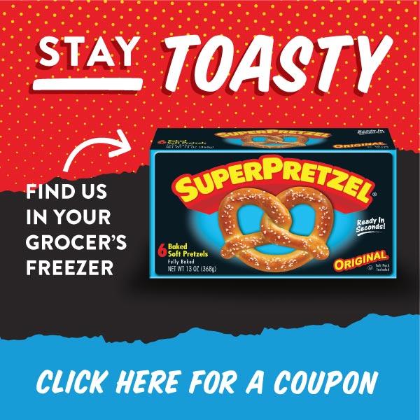 *Rare* $0.50 Off Any ONE (1) SUPERPRETZEL Soft Pretzel Product