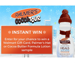 Win 1 of 41,950 Walmart Gift Cards & Palmer's Samples Instantly