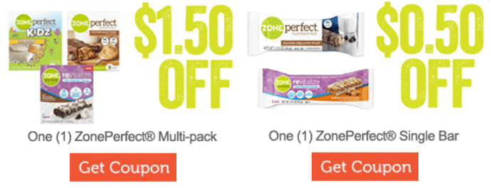 *HOT* Zone Perfect Nutrition Bar Coupons