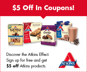 *HURRY* Get Your FREE Atkins Quick Start Kit + $5 Off Coupon!