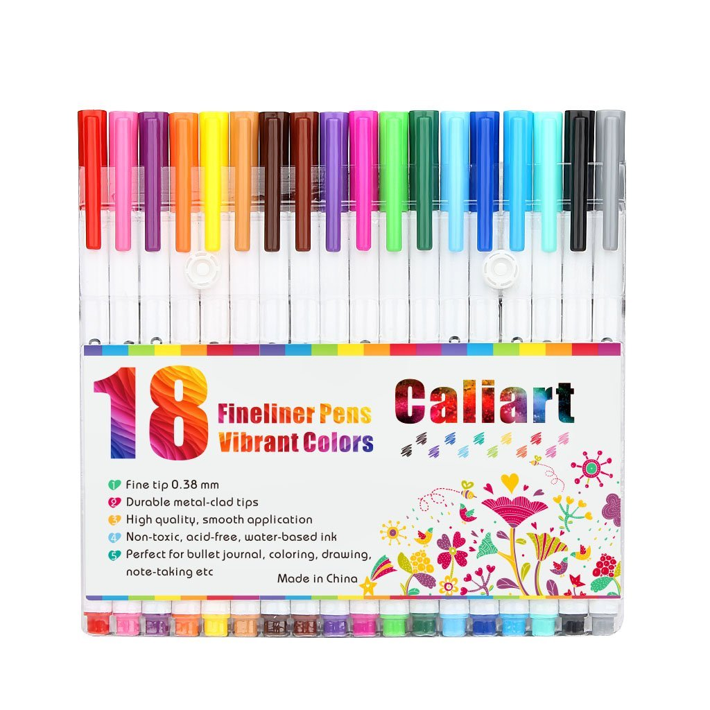 Amazon Deal: Caliart 18 Fineliner Color Pen Set Only $4.99 (Reg.$18.99)