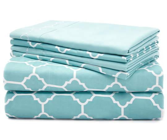 *HOT* Aqua Tile 6-Piece King Sheet Set Only $16.00