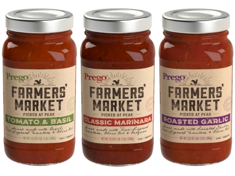 Save $0.50 on any ONE (1) Prego Farmers' Market sauce