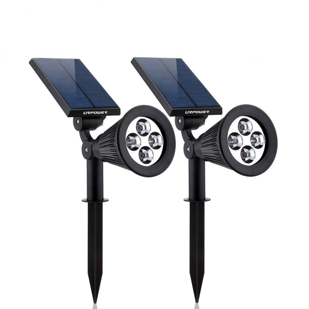 Solar Lights, 2-in-1 Waterproof 4 LED Solar Spotlight Twin Pack Only $25.99 + Free Shipping (Reg $50.99)