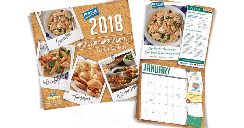 Free 2018 Perdue Recipe Calendar