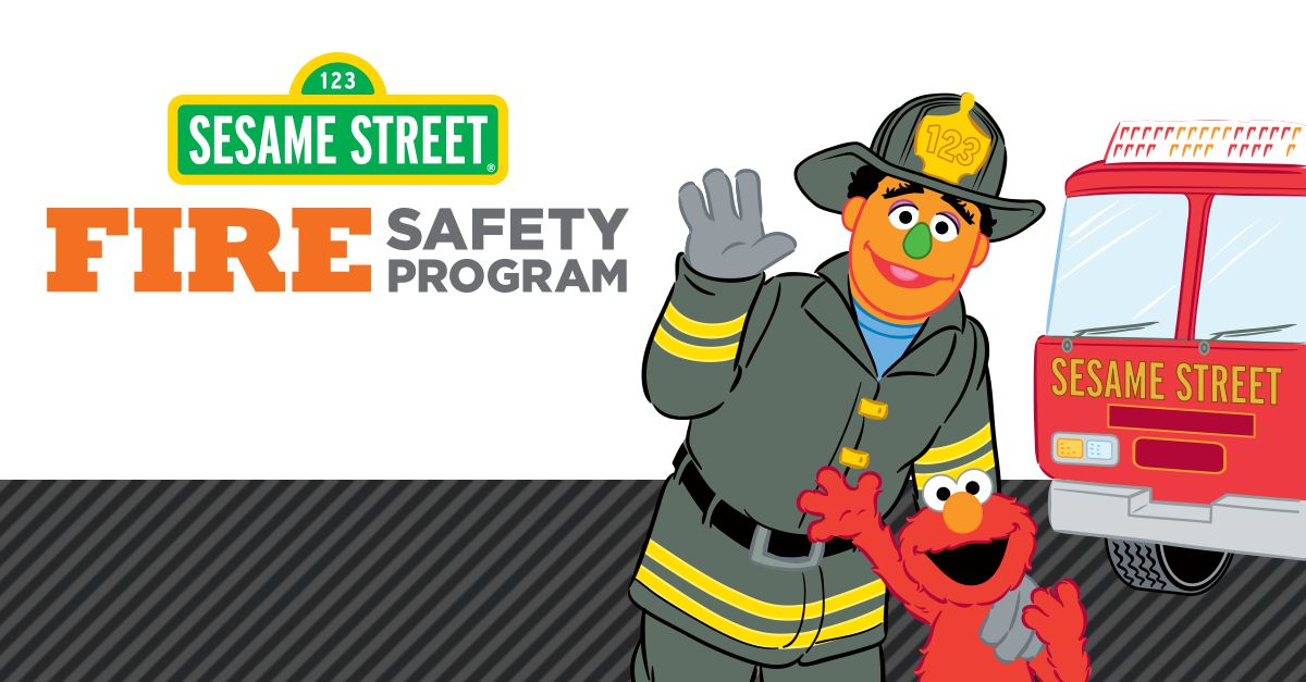 Free Sesame Street Fire Safety Color & Learn Activity Book