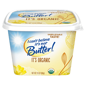 Save $2/1 I Can't Believe It's Not Butter Organic