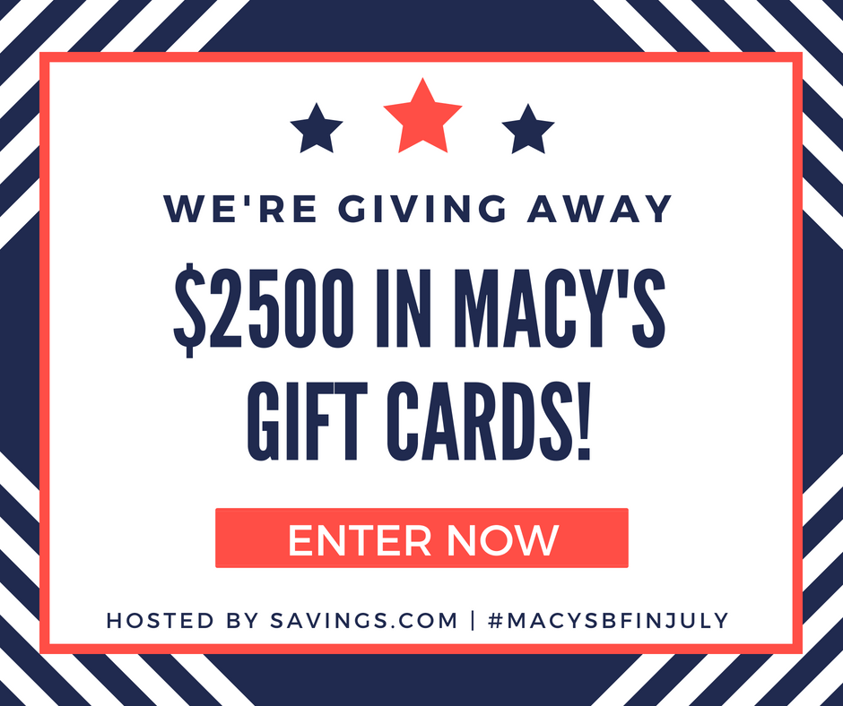 Enter the Macy's Gift Card Giveaway #MACYSBFINJULY