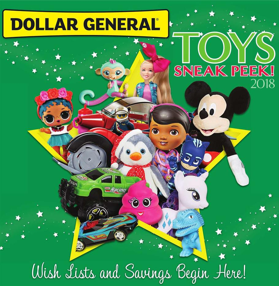 The 2018 Dollar General Toy Book Is Available