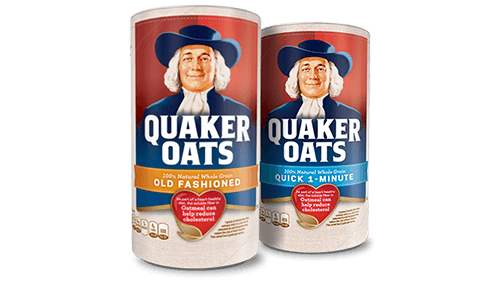Save $1.00 on any TWO (2) packages of Quaker Old Fashioned, Quick or Instant Oats