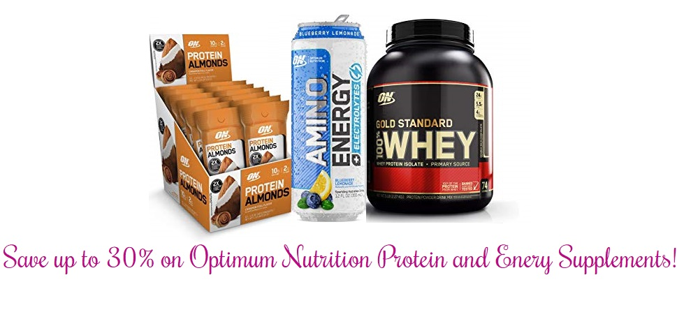 Amazon – Save up to 30% on Optimum Nutrition protein and energy supplements