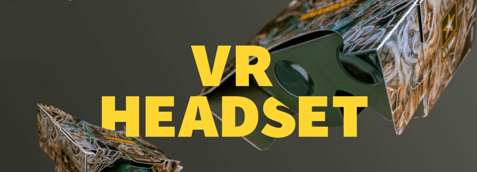 Free U.S. Army Cardboard VR Headset