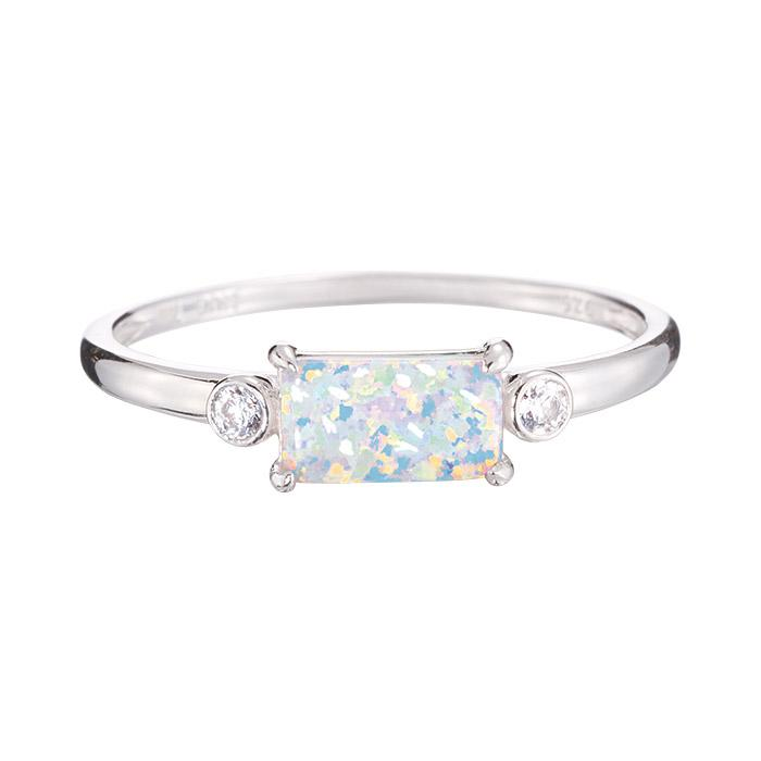 Sterling Silver Simulated Opal Ring Only $16.99 (Reg. $49.99)