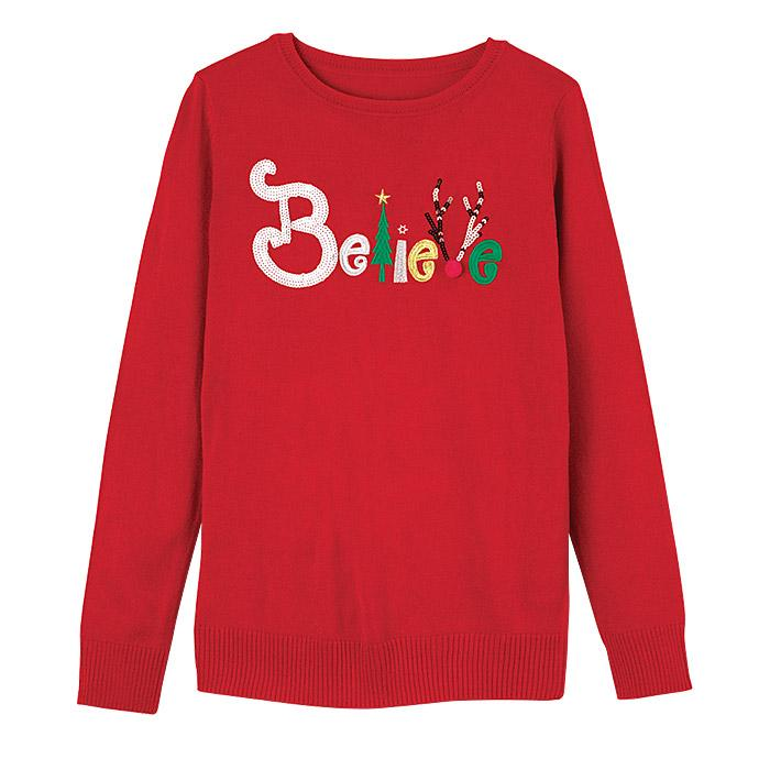 Believe Holiday Sweater Only $16.99 (Reg.$34.99)