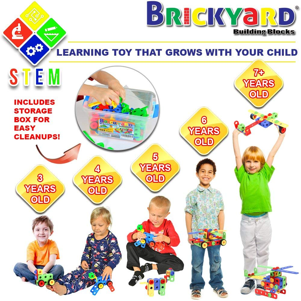 Save 55% on 163-Piece STEM Toys Kit ONLY $22.46 (Reg. $50)