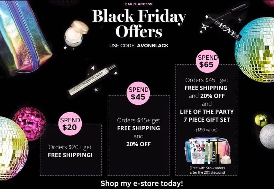 HURRY – Black Friday Deals Start Now At Avon!