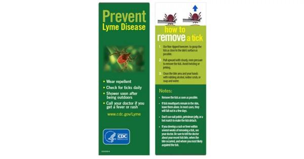 Free Prevent Tickborne Diseases Bookmark