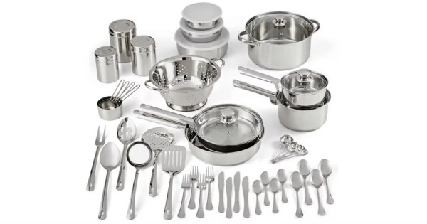 Mainstays Cookware Combo Set 52-Piece ONLY $47.99 at Walmart