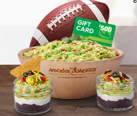 Win a $500 Visa Gift Card from Avocados From Mexico