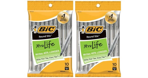 BIC Xtra Life Stic Pens 10-Count ONLY $0.29 at Target