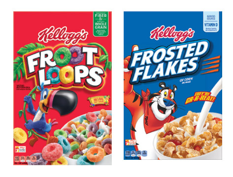 Save $1.00 on TWO Kellogg's Frosted Flakes, Froot Loops and/or Rice Krispies Cereals
