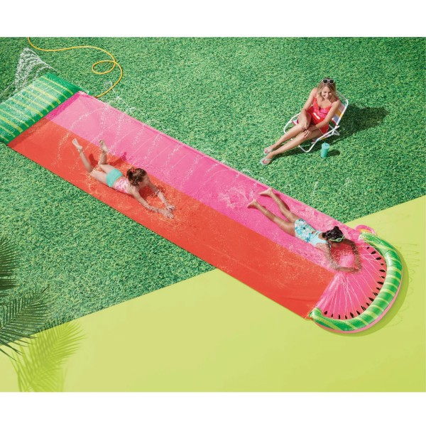 Watermelon Aqua Ramp Double Water Slide