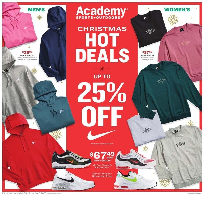 Academy Sports + Outdoors Cyber Monday Deals