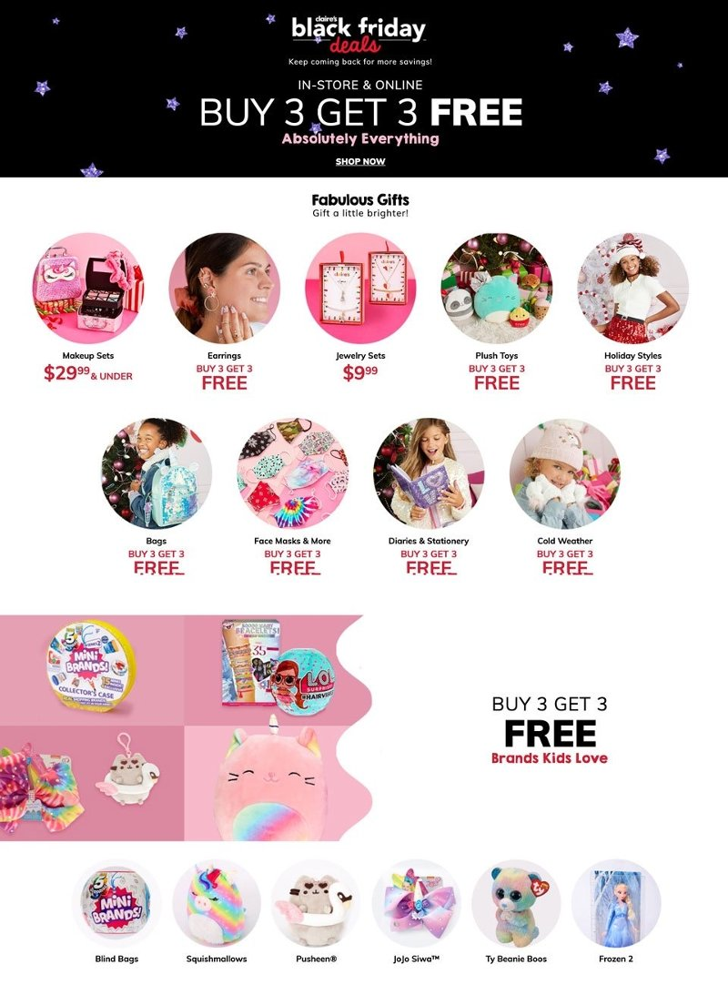 Claire's Black Friday Ad Preview