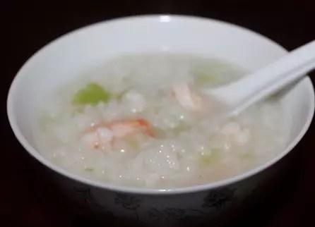 Celery Shrimp Rice Soup