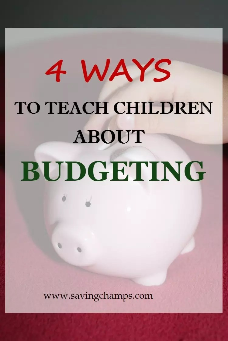 Involving kids early in your family budgeting and finance can benefit them down the road. Here are four ways to teach children budgeting. | teach kids about money, budget, personal finance, save money.