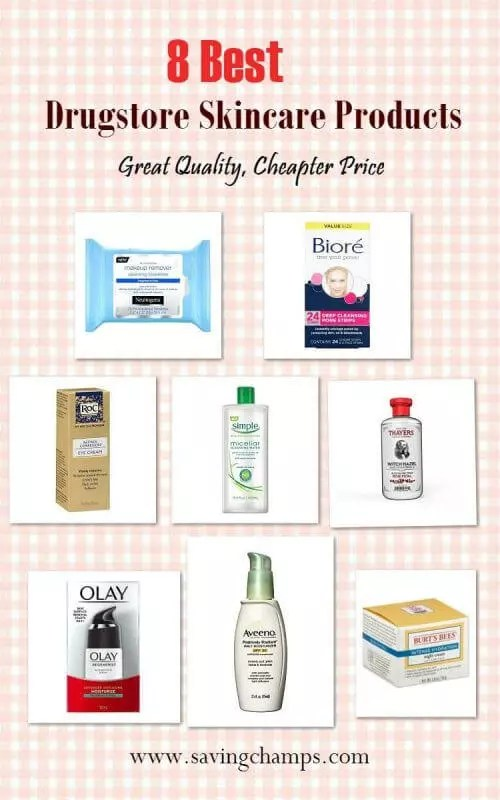 Here are the 8 best drugstore skin care products that I have used. Those drugstore skin care products have great quality at affordable prices. | drugstore skin care products, beauty products, save money.