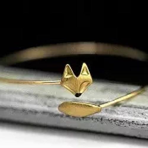 Hand Gilded Fox Bangle