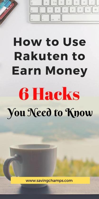 how to use rakuten to earn money