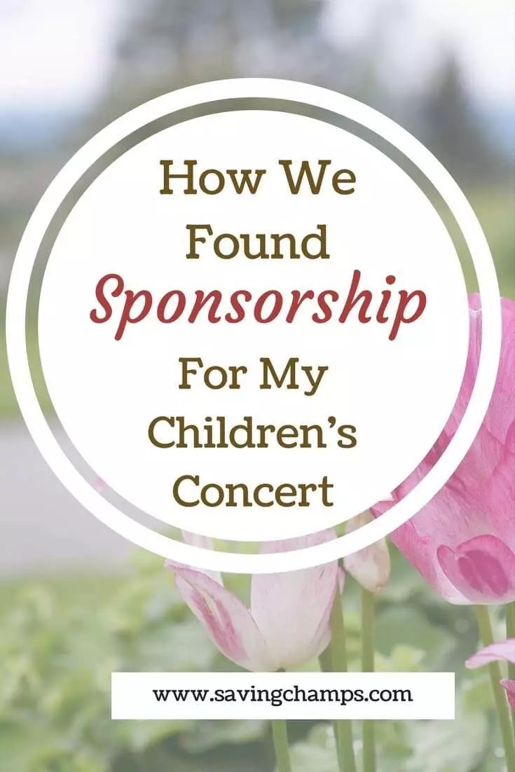 It is not easy to find sponsorships. From our experience of finding sponsors for our concert, you can get ideas on how to get sponsors for your event.