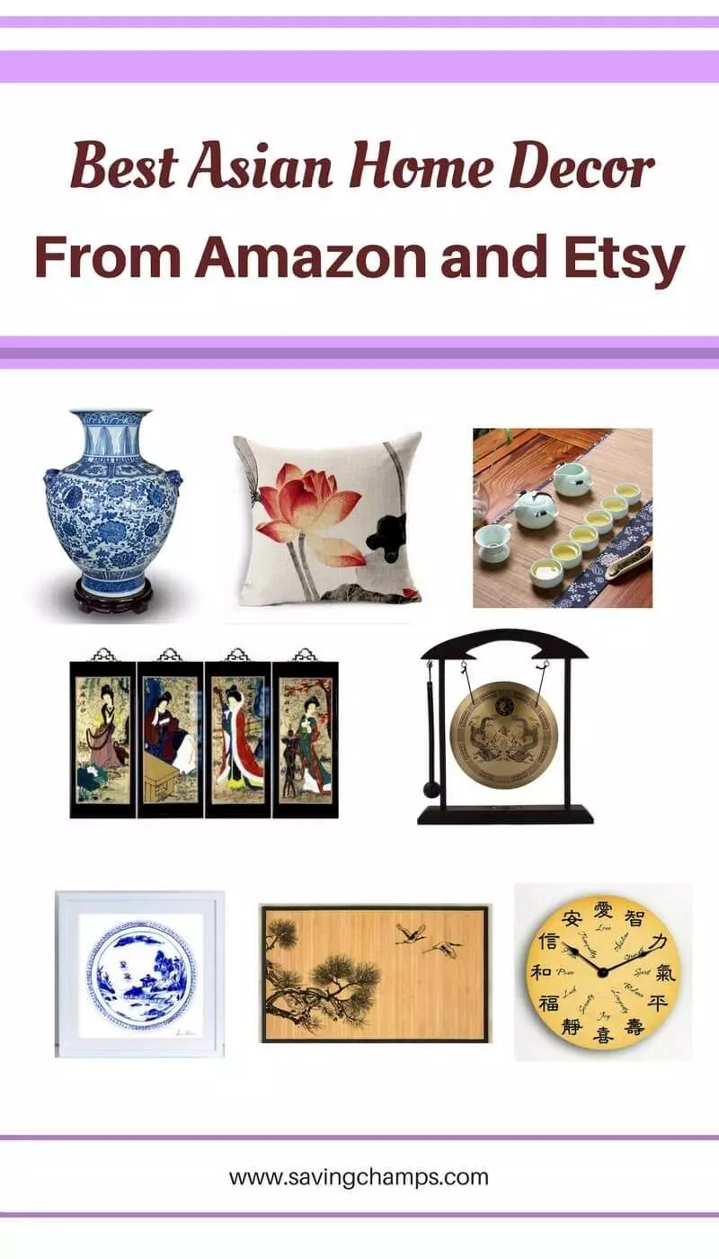 There are some awesome Asian-style home decor items from Amazon and Etsy. Asian home decor, best home decor items, home decoration, home decor ideas, home decor styles.
