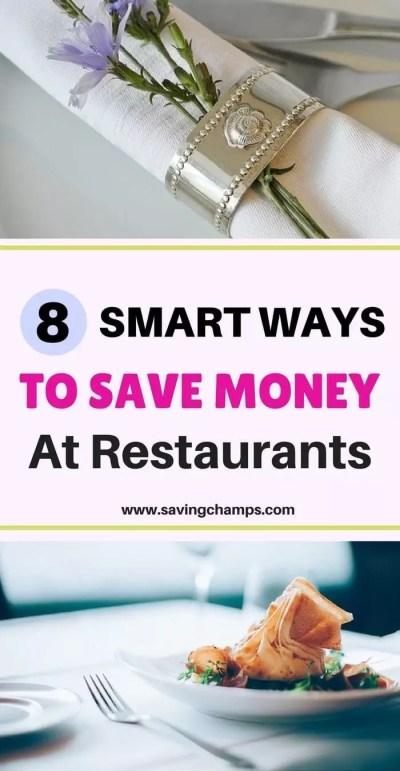 ways to save money at restaurants