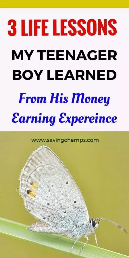 life lessons for teens; a money-earning experience