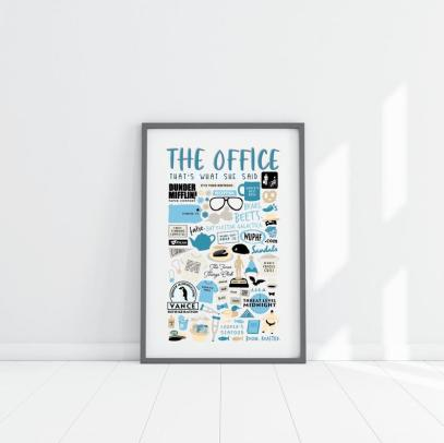 The Office TV Show Collage Poster