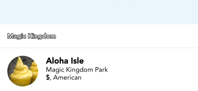 Mobile ordering at Disney World