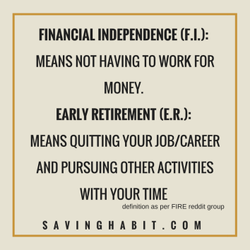 Difference between Financial Independence and Retire Early
