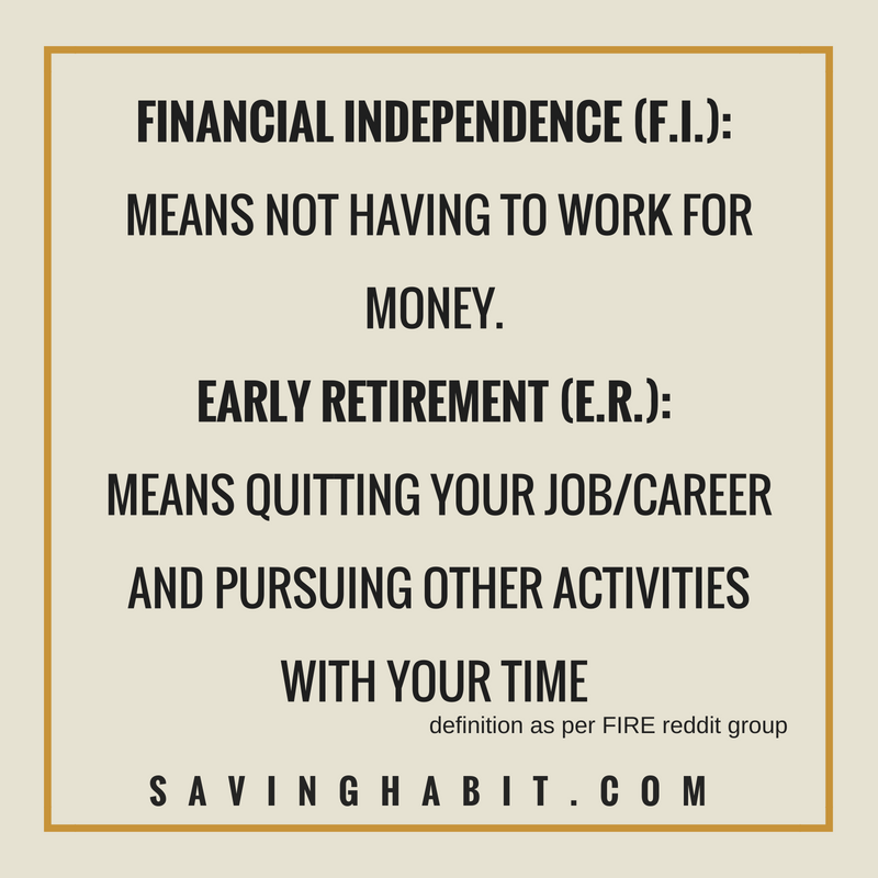 The basics of Financial Independence and Retiring Early (F I R E